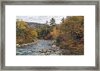 Framed Print featuring the photograph Swift River Autumn  by Richard Bean
