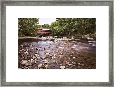 Swift River Bridge Framed Print by Eric Gendron