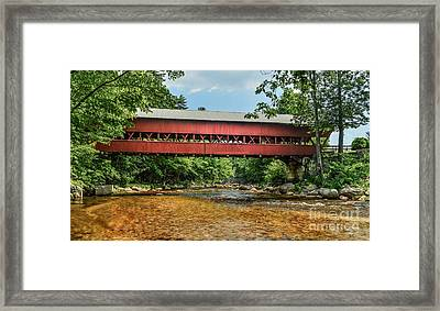 Framed Print featuring the photograph Swift River Covered Bridge Hew Hampshire by Debbie Green