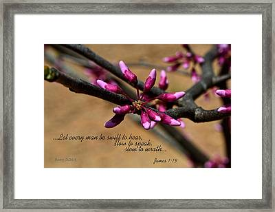 Swift To Hear Framed Print by Larry Bishop