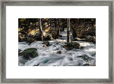 Swift Water Framed Print by Mitch Shindelbower