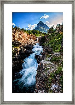Swiftcurrent Falls Framed Print by Aaron Aldrich