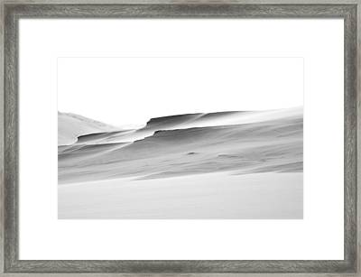 Framed Print featuring the photograph Swiftly Moving Dunes by Adria Trail