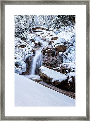 Swiftwater Falls Winter Framed Print by Jeff Sinon