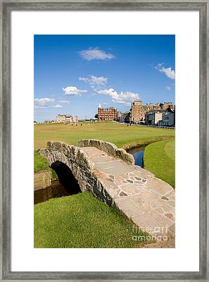 Swilcan Bridge On The 18th Hole At St Andrews Old Golf Course Scotland Framed Print
