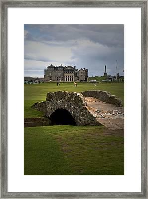 Swilken Bridge Vignette St Andrews Old Course Scotland Framed Print