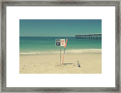 Swim And Surf Framed Print