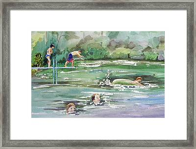 Swim At Little Elk Lake Framed Print