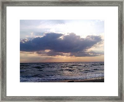 Swim Before Storm Framed Print by Patrick Mancini