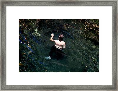 Swimmer Framed Print