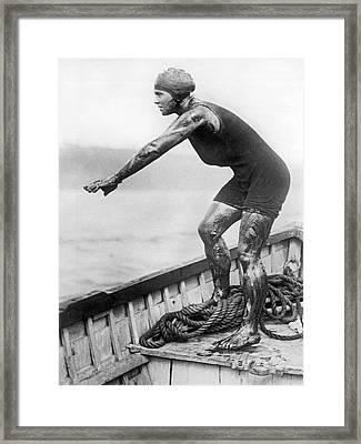 Swimmer Clemington Corson Framed Print