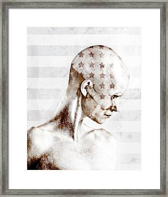 Swimmer Framed Print by Johan Lilja