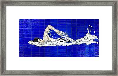 Swimmer Framed Print by Kimber Thompson