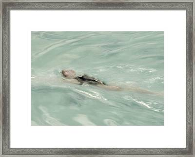 Swimmer Framed Print