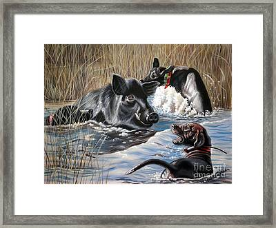 Swimmer's Ear Framed Print
