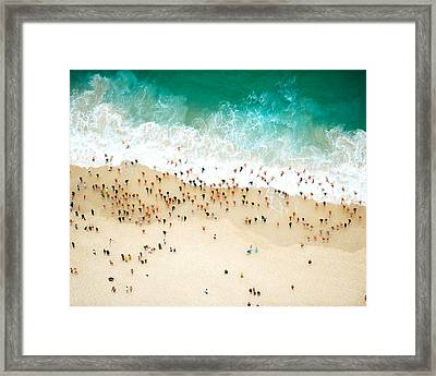 Swimmers Entering The Ocean Framed Print