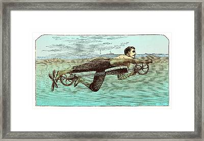 Swimming Apparatus Framed Print