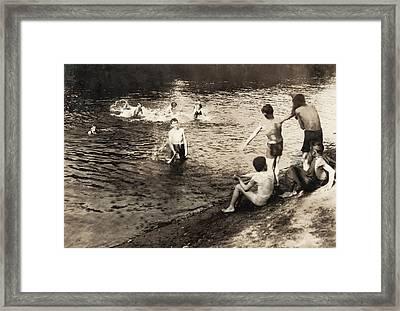 Swimming Hole, 1916 Framed Print by Granger