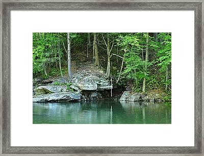 Swimming Hole At Rock Run Framed Print