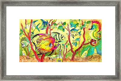 Swimming In A Sea Of Limoncello Framed Print by Miki De Goodaboom