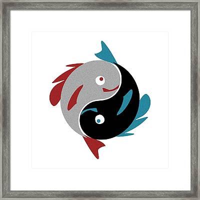 Swimming In Harmony Framed Print