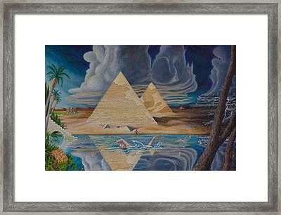 Swimming In That River In Egypt Framed Print