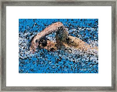 Swimming In The Zone Framed Print