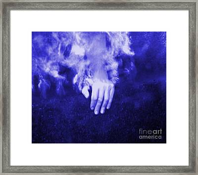 Swimming Laps Framed Print