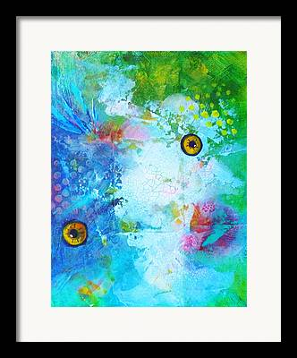 istic Fish Abstraction Paintings Framed Prints