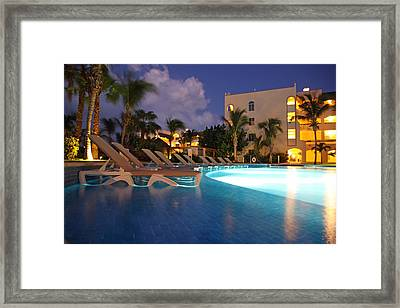 Swimming Pool At Night I Framed Print by Dave Dos Santos
