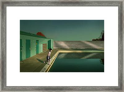 Swimming Pool Framed Print by Fang Tong