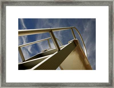 Swimming Pool Ladder Framed Print by Con Tanasiuk
