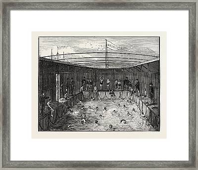 Swimming Pool Of The Training Ship Indefatigable Framed Print