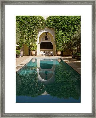 Swimming Pool Of Villa Des Orangers Framed Print
