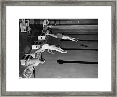 Swimming Race Start Framed Print