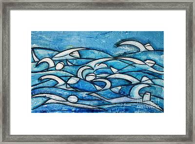 Swimming Sequence Framed Print by Alejandro Maldonado