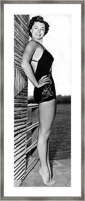 Swimming Star Esther Williams Framed Print