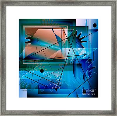 Swimming Towards The Light Framed Print