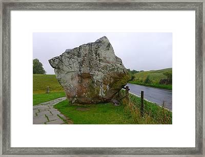 Swindon Stone Framed Print