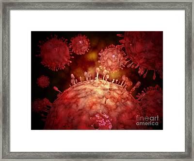 Swine Influnza Virus Framed Print by Stocktrek Images