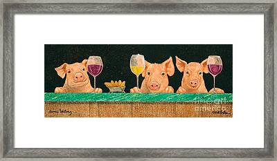Swine Tasting... Framed Print by Will Bullas
