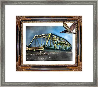 Swing Bridge Framed Print by Betsy Knapp
