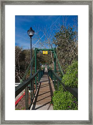 Swing Bridge In A Forest, Arroyo Framed Print by Panoramic Images