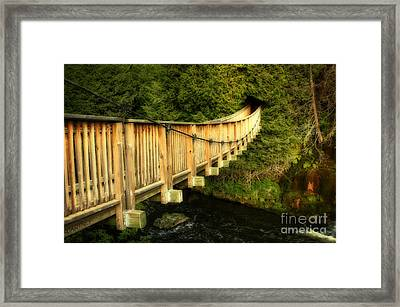 Swing Bridge In A Heritage Village Framed Print by Inspired Nature Photography Fine Art Photography