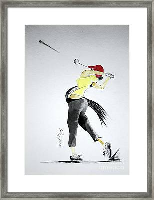 Swing For Hole One Framed Print by Jalal Gilani