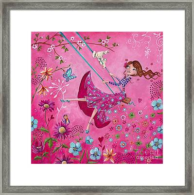 Swing Girl Framed Print by Caroline Bonne-Muller