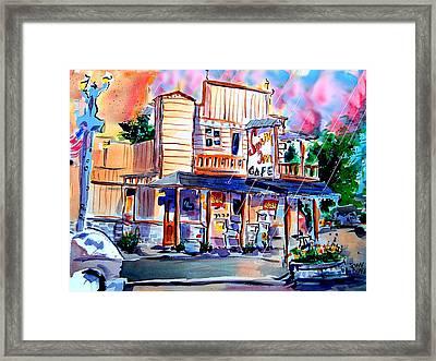 Swing Inn Framed Print