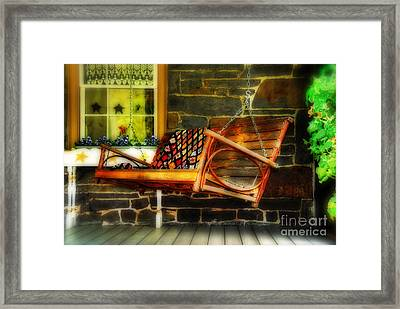 Swing Me Framed Print by Lois Bryan