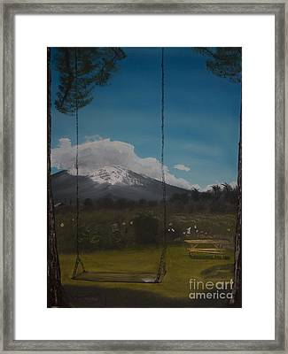 Swing On Mt Hoods Fruit Loop Framed Print