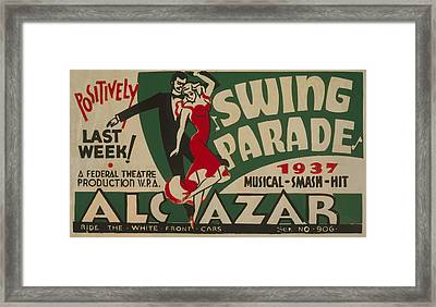 Framed Print featuring the mixed media Swing Parade Of 1937 by American Classic Art